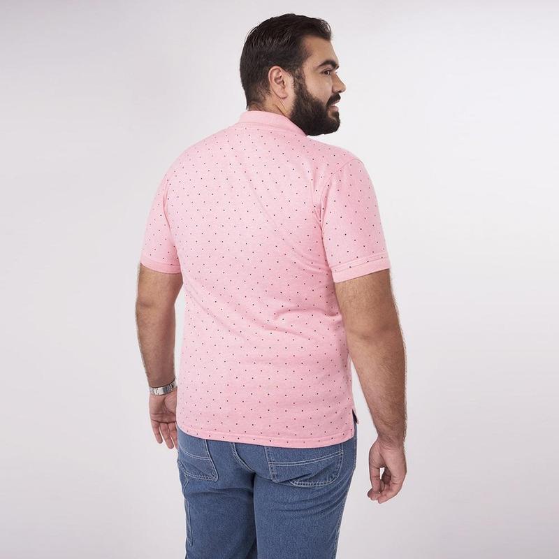 Camisa Rosa Con Puntos 019307