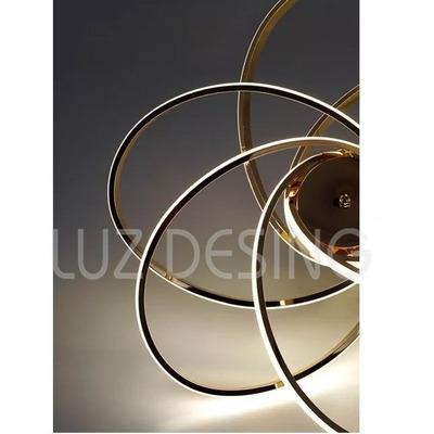 Araña Plafon Luces Led 90w Diseño Moderno Dorado Pal