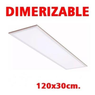 Panel Embutir Plafon Led 120x30 48w Dimerizable Luz Desing