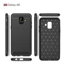 Funda Tpu Simil Carbono Samsung A6 A8 Plus + Envio Gratis