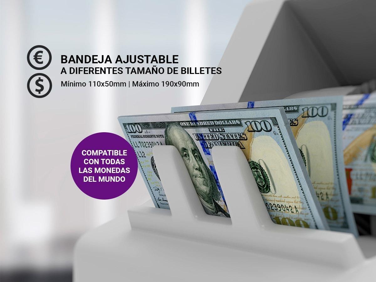 Contadora De Billetes Dinero + Lapiz Detector De Billetes Falsos Pesos Dolares Euros Modelo 2019 Gadnic