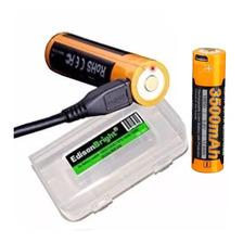 Bateria Pila Recargable Fenix 18650 3500 Mah 3.6v Puerto Usb