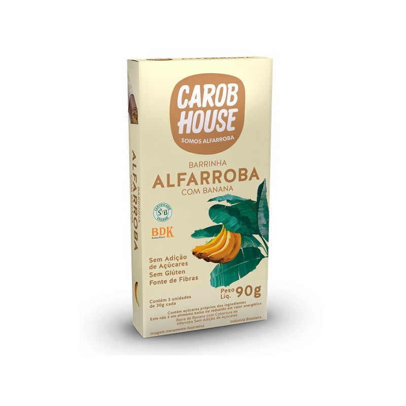 Alfarroba com Banana - 3 x 30g - Carob House