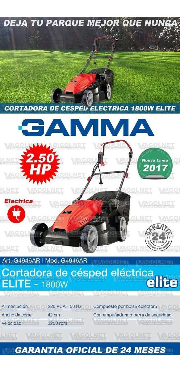 Cortadora De Cesped Electrica 1800w Elite 2 5 Hp 6 Alt Gamma