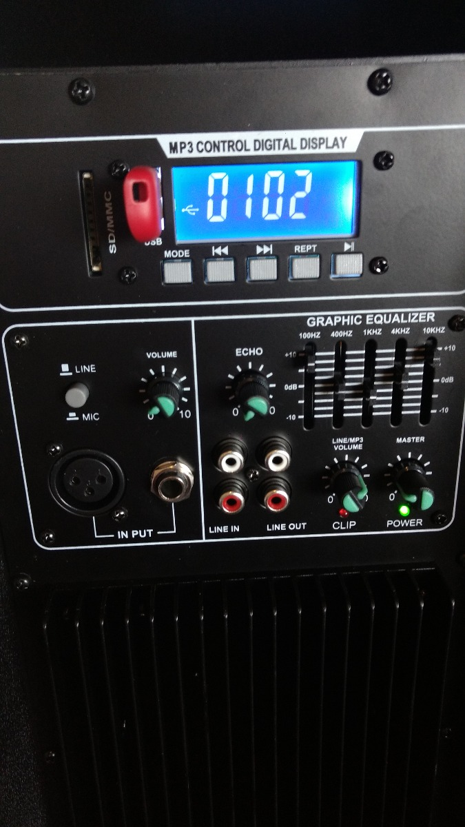 "Bafle GBR 2v 12"" MP3"