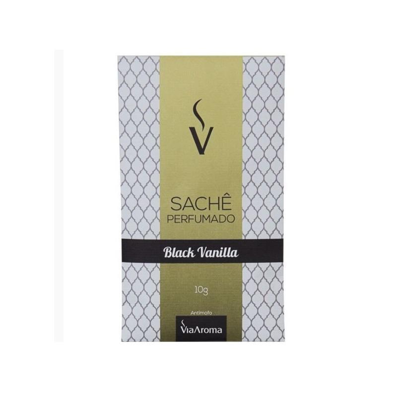 Sache Perfumado - Aroma Black Vanilla - 10g - Via Aroma