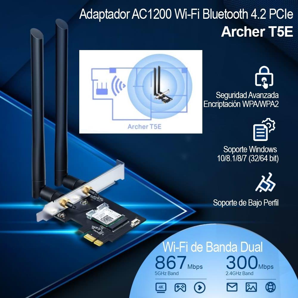 Placa Pci-e Wifi + Bluetooh Ac1200 Tp-link Archer T5e | SCI informática
