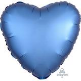 globo corazon azul satin desinflado apto helio