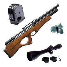 Rifle Aire Comprimido Fox Pcp P10 Bullpup Regulado Mira 4x40