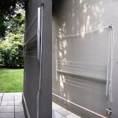 Tendedero rebatible plegable pared aluminio para tender ropa - Tendederos de balcon ...