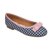 Flats azul multicolor moño rosa 018774