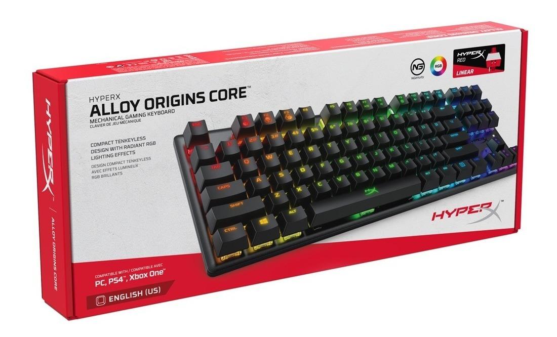 Teclado Mecanico Tkl Hyperx Alloy Origins Core Rgb Switch Hx