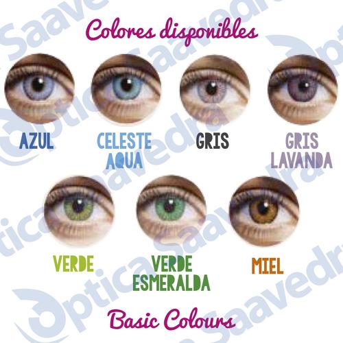 20907ad61a ... comprar Lentes Contacto Trikolor Basic Colours +aqualent120 +estuche ...