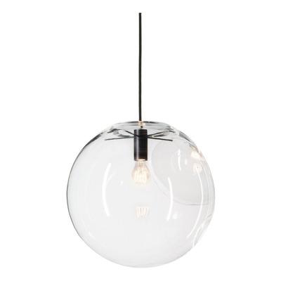 Colgante Jems Transparente 1 Luz Apto Led Vidrio 30cm Cie