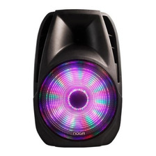Parlante Portatil Bluetooth Led Con 1 Microfono Sp6110 Noga