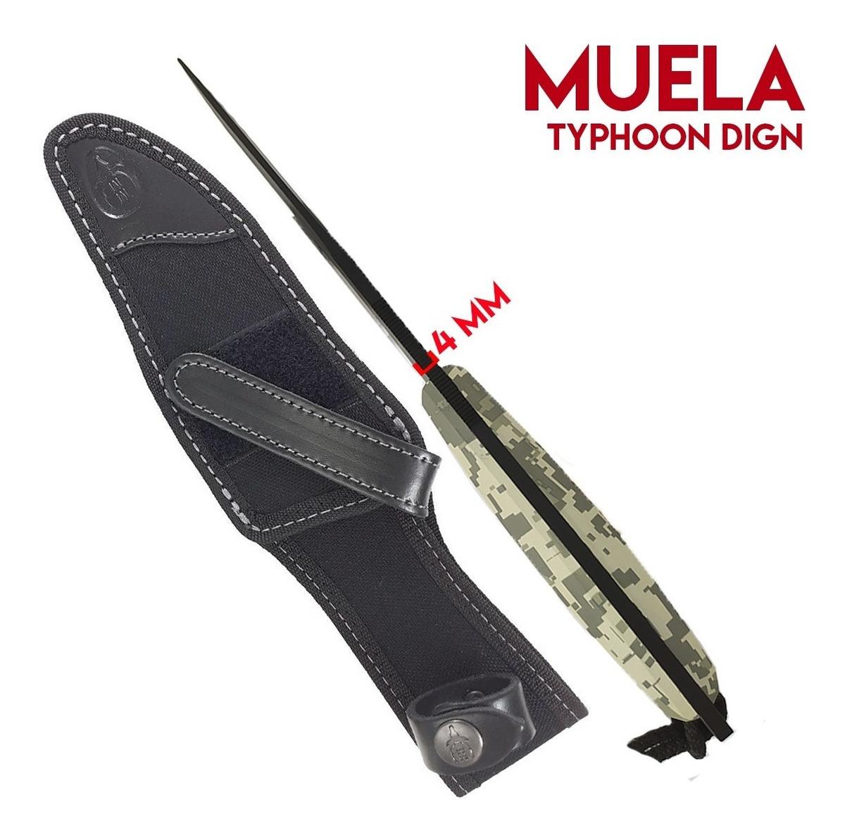 Cuchillo Tactico Muela Typhoon 15 Camu Acero Español + Funda