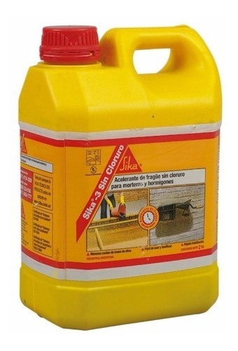 Acelerante De Fragüe S/cloruro Sika 3 X 2kg Hormigon Armado