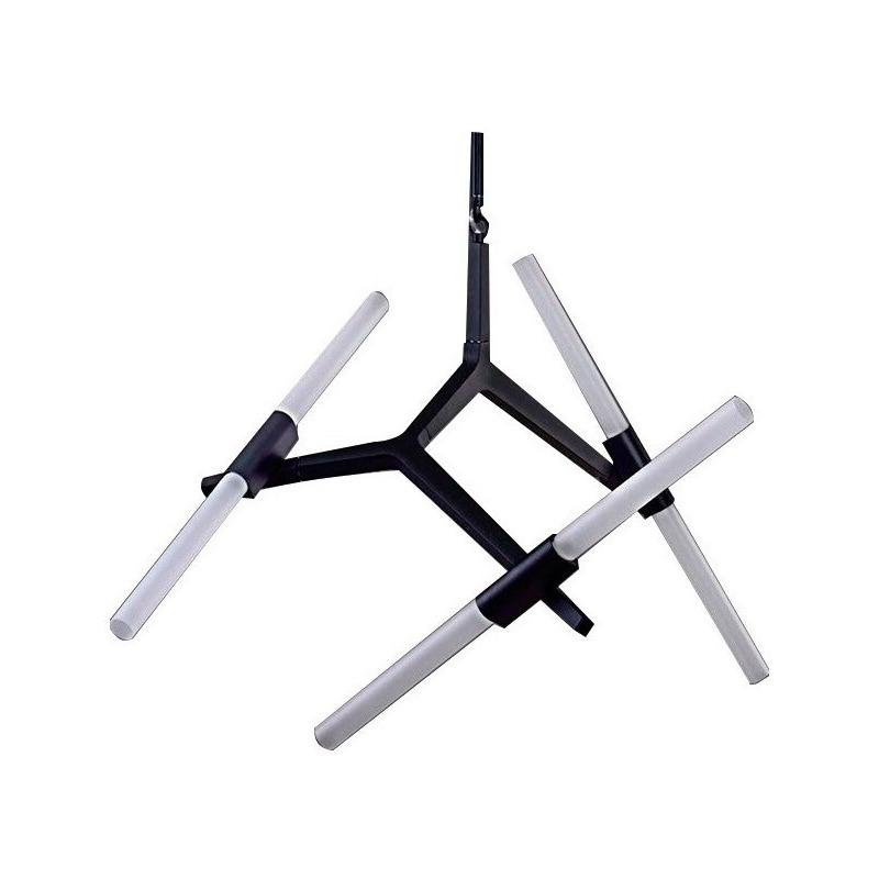 Lampara Moderno Khalo Diseño Movil Cristal 6 Luces Led