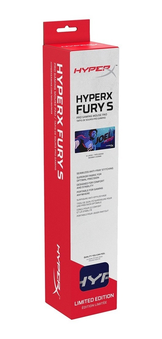 Mousepad Gamer Hyperx Fury Pro Mouse Pad Extra Large Xl Borde Tejido 90cm Oficial