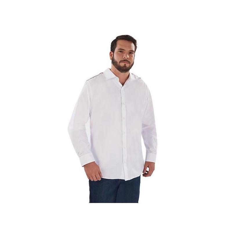 Camisa blanca con botonadura  014617P