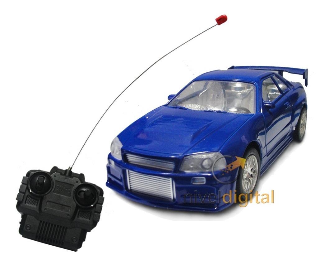 Auto Coupe Aleron Radio Control Full Luces Delanteras Niño