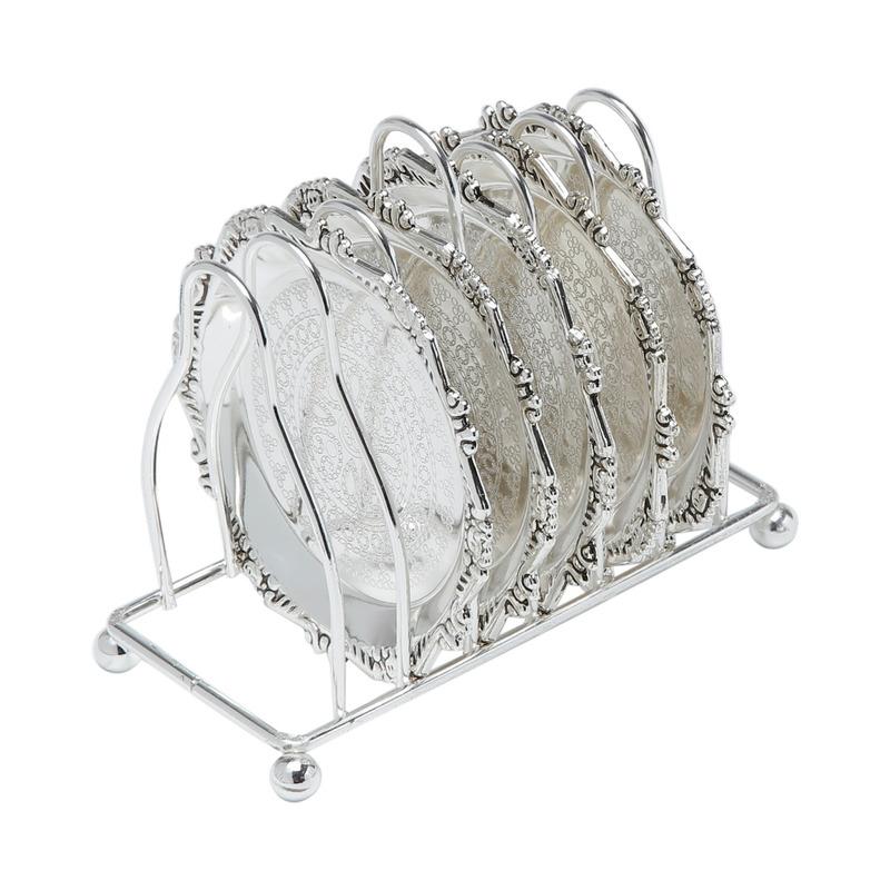 Jogo 06 Porta copos com suporte - Prestige 3102697