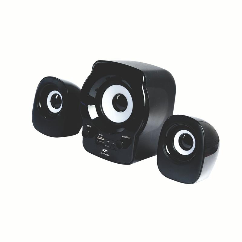 CAIXA DE SOM SPEAKER 2.1 FM SD USB C3TECH SP-10BK PRETO