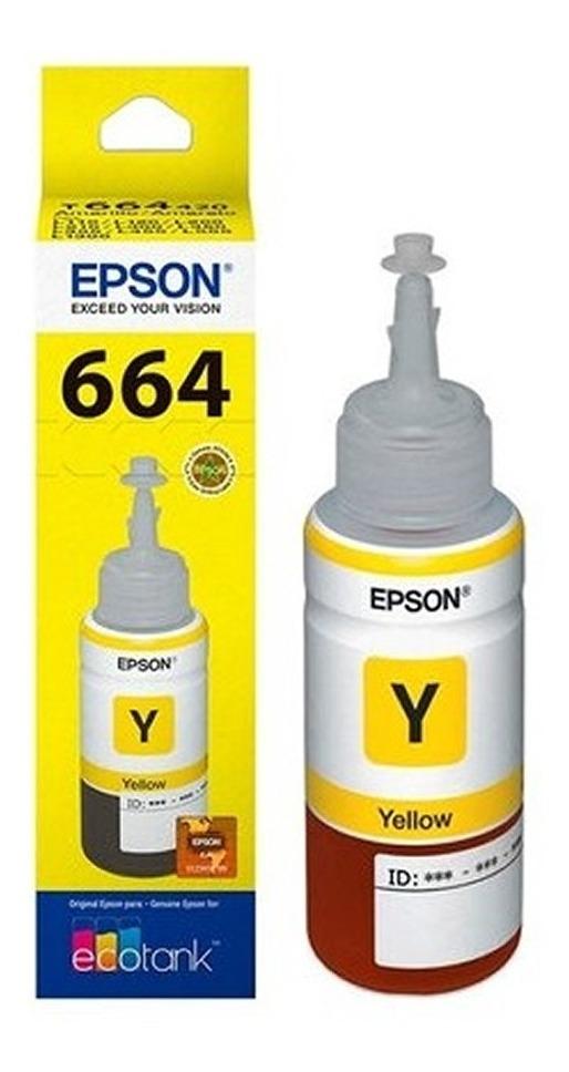 Botella Epson Original Tinta T664 L210 L355 L555 L365 Amari