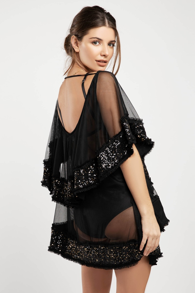 Vestido Mini Ray Negro