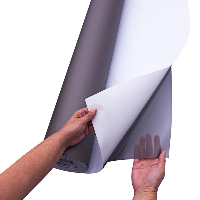 Vinil adesivo jateado transparente fumê larg. 1,22 m