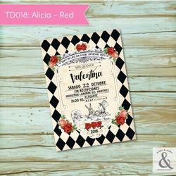 Invitación digital TD018 (Alic...