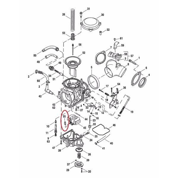 Valvula Agulha / Estilete Carburador Harley Cv - 27886-78 A