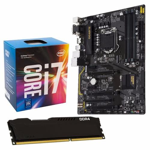 Combo Actualizacion Pc Intel I7 7700 + Z270 + 8gb Ddr4