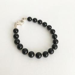 Pulsera con piedra negra obsidiana