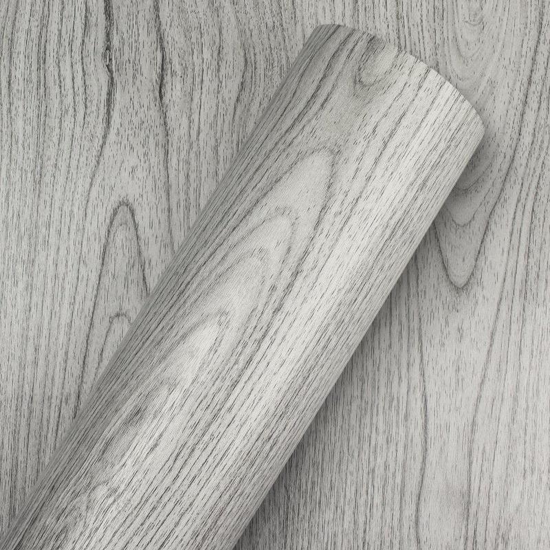 Adesivo para parede madeira cinza ravel Larg. 1,22m