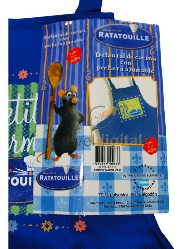 Delantal Infanti Cocinerito Ajustable Ratatouille  Licencia