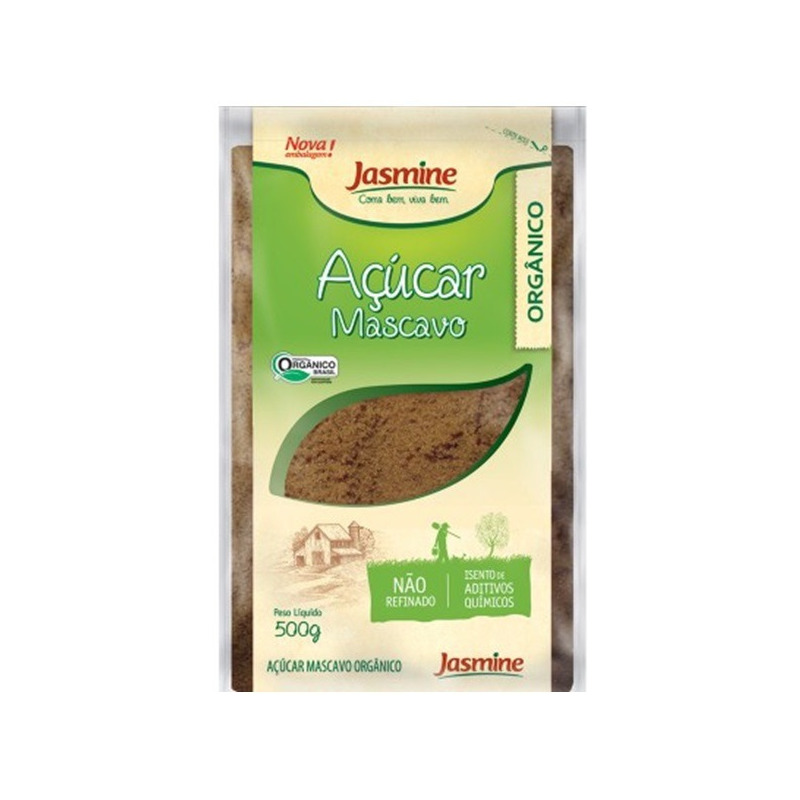 Acucar Mascavo Organico - 500g Jasmine