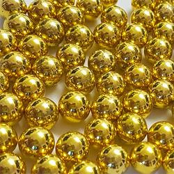 Perolas de 6mm Dourada com Rebites - ...