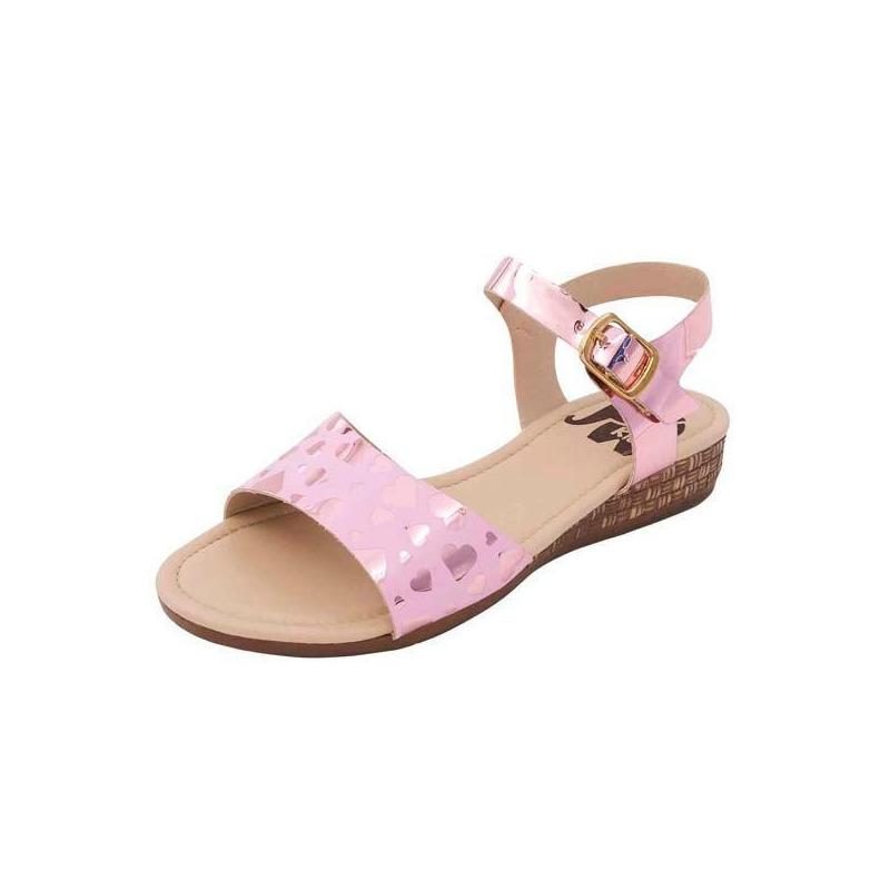 Sandalia rosa estampada 018376