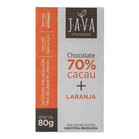 Chocolate de Laranja 70% Cacau - 80g - Java