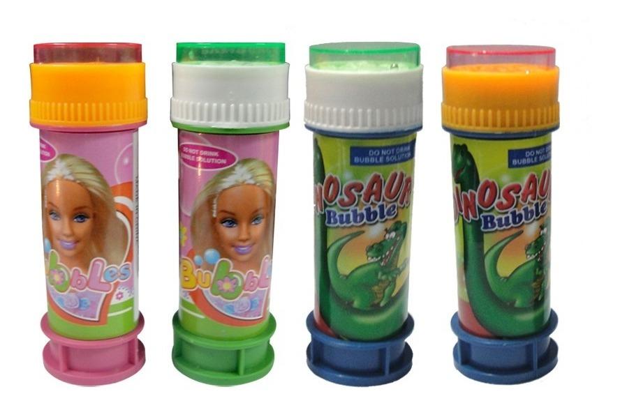 Set 4 Burbujeros Dinosaurio Barbie Nene Nena Souvenir Regalo