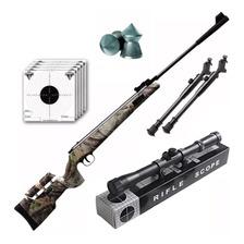 Rifle Aire Comprimido Fox Nitro Magnum Camo 1100 Fps Bipode