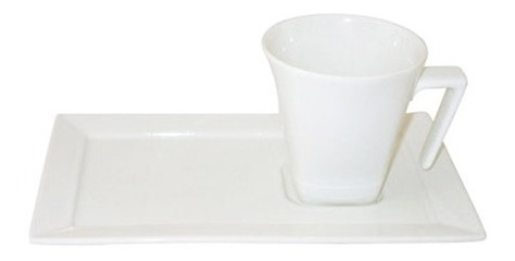 Taza 200 Ml Porcelana Blanc Plato Rectangular Oxford Te Cafe