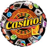 globo tema casino 45cm desinflado apto helio/aire