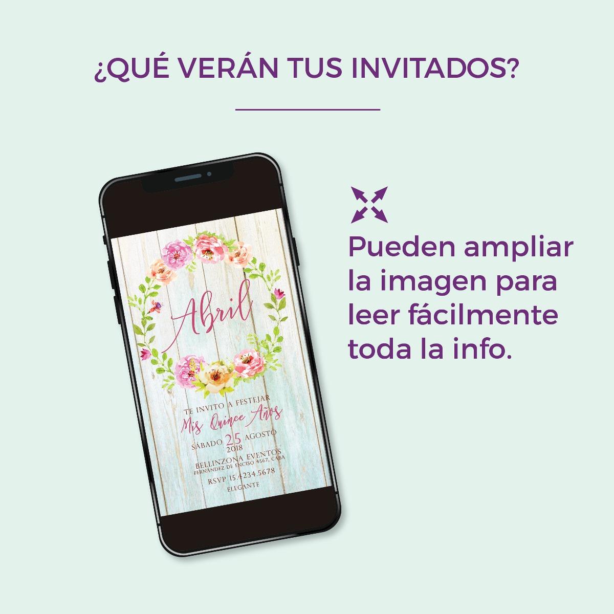 Invitación digital TD009 (Floral Chic 2)