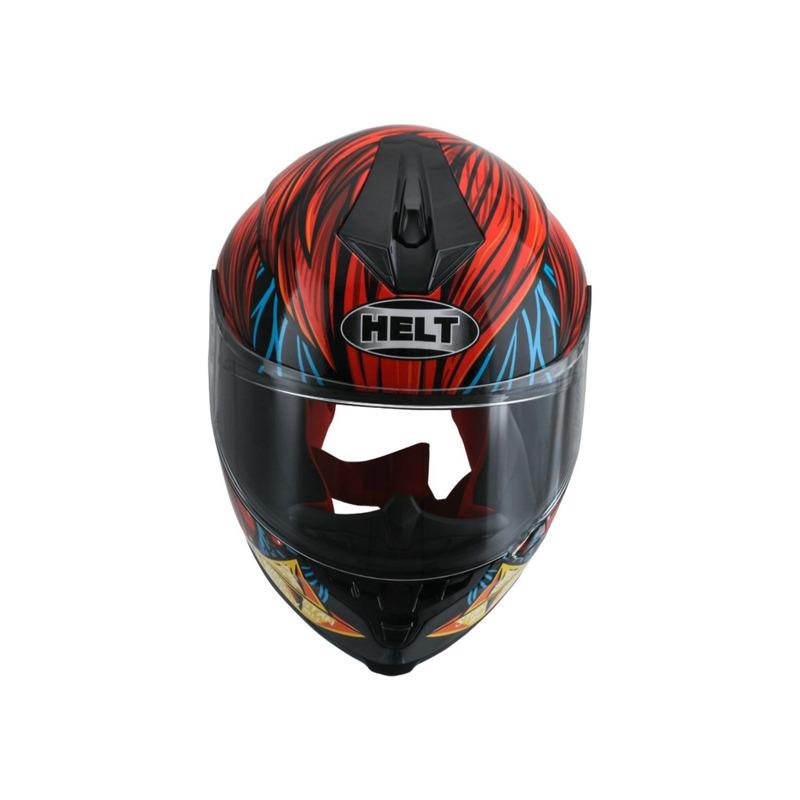 Capacete Helt New Race Joker Vermelho e Azul