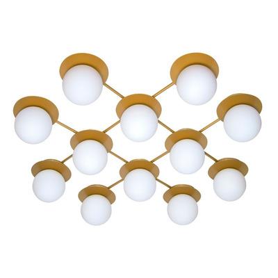 Aplique Sminos Dorado 12 Luces Apto Led Deco Moderno Lk
