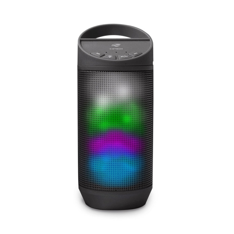 CAIXA DE SOM SPEAKER BLUETOOTH E MICRO SD C3TECH BEAT SP-B50BK PRETO