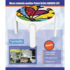 Mesa de Jardin Garden Life Puket Britto de Plastico
