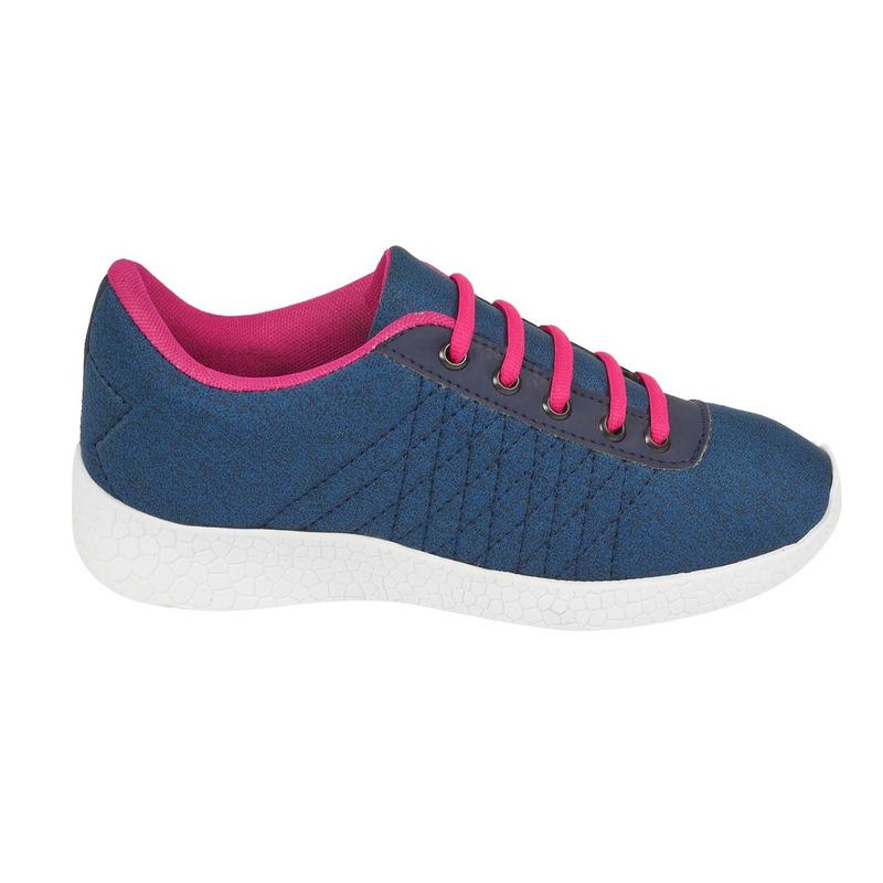 Deportivos azules cintas rosas 016674
